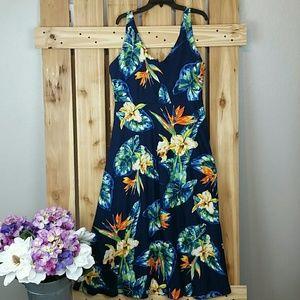 Chaps Maxi Dress Floral Print NWT